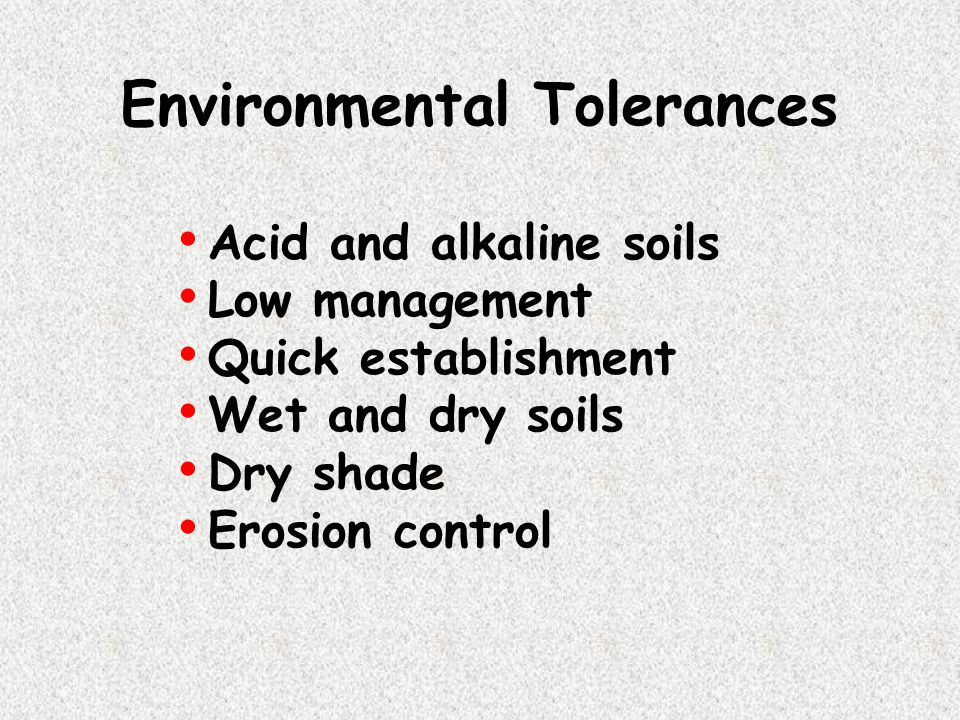 Environmental Tolerances
