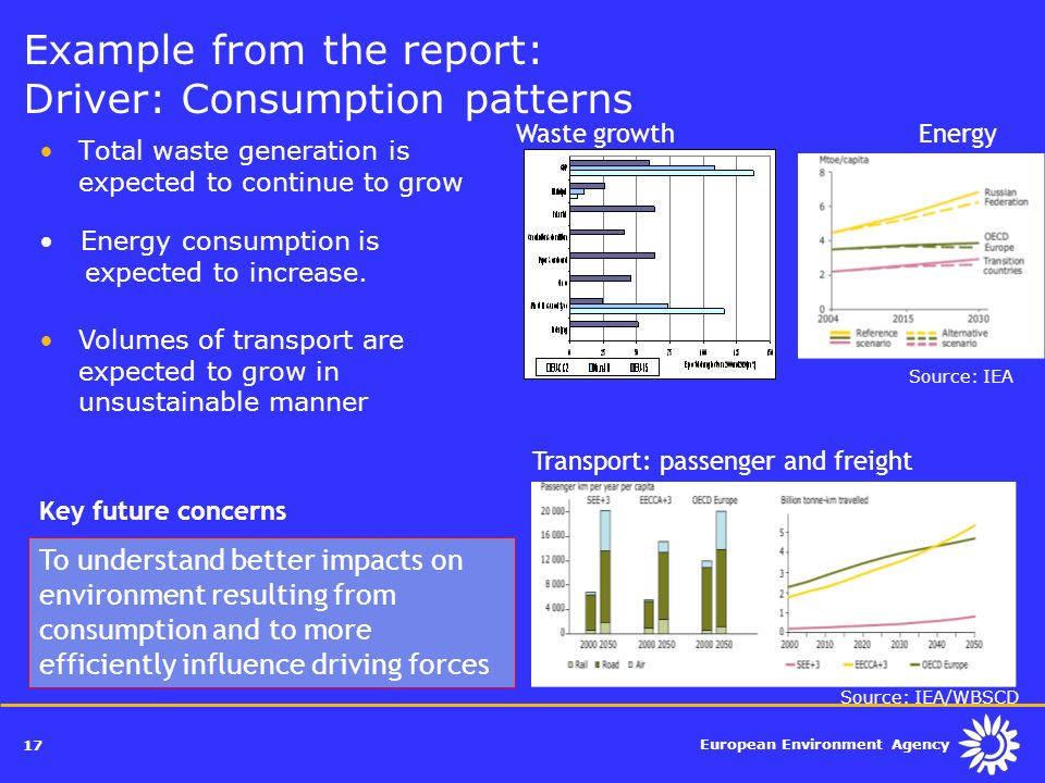 Example from the report: Driver: Consumption patterns