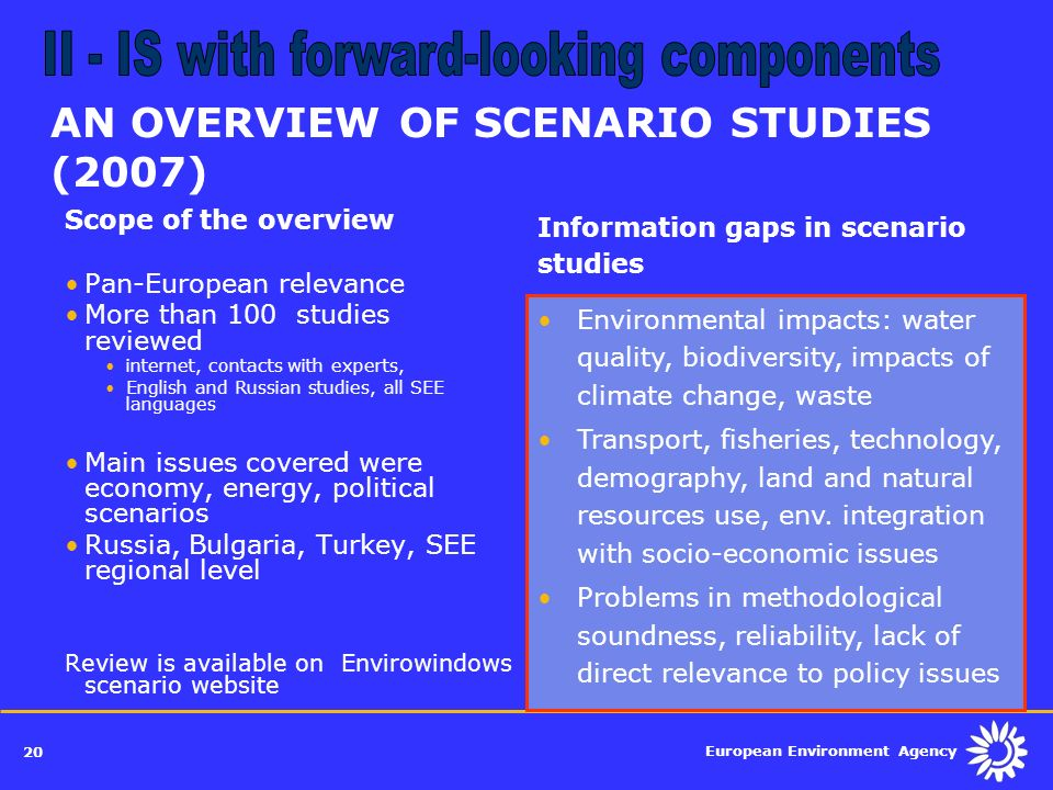 AN OVERVIEW OF SCENARIO STUDIES (2007)