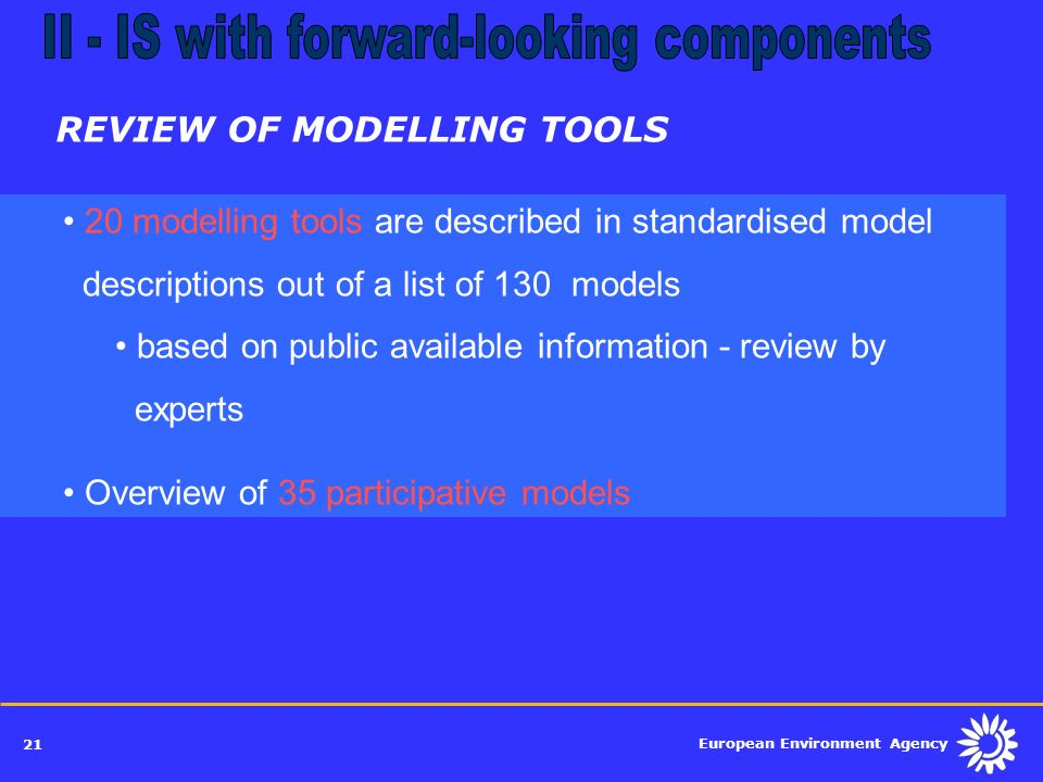 REVIEW OF MODELLING TOOLS