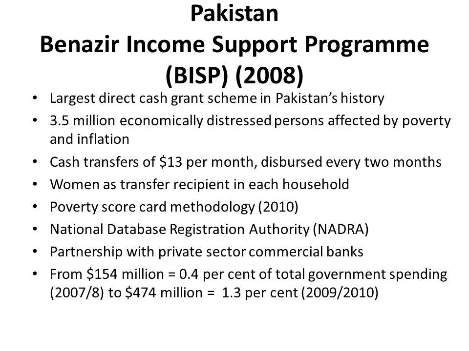 Pakistan Benazir Income Support Programme (BISP) (2008)
