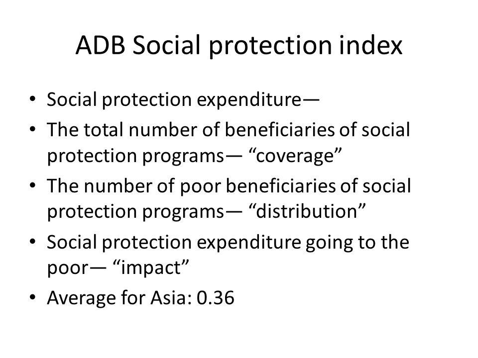 ADB Social protection index