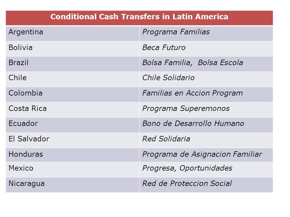 Conditional Cash Transfers in Latin America