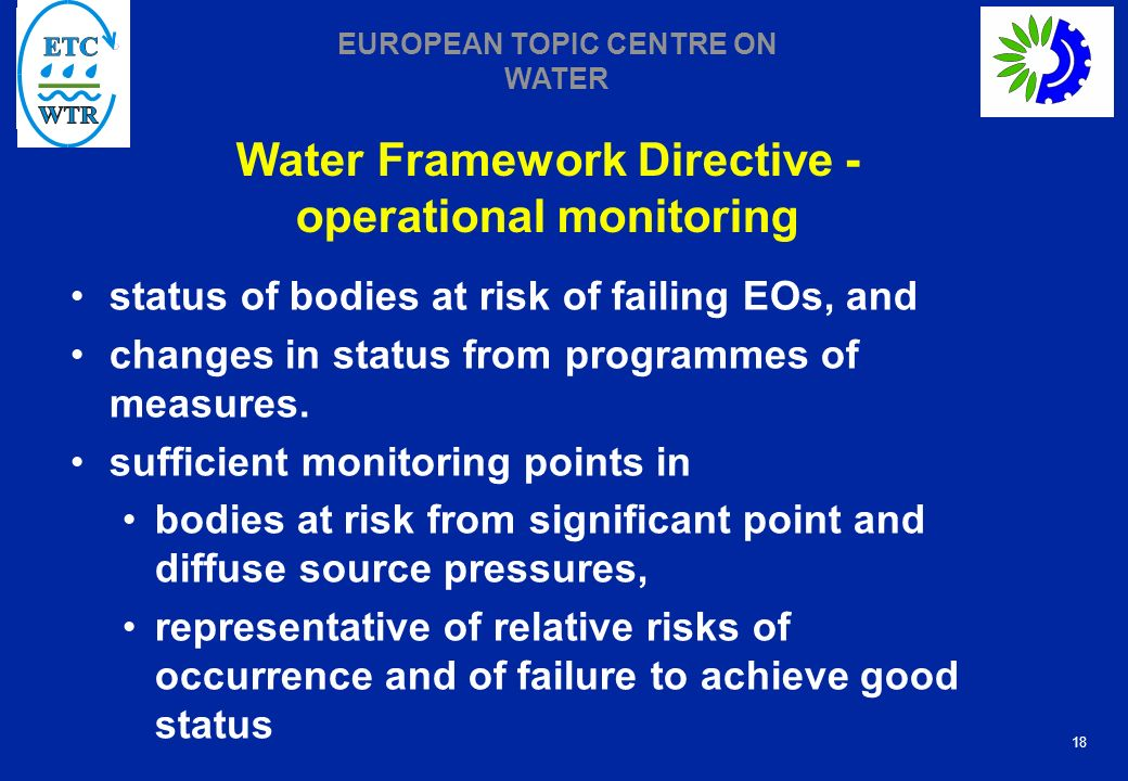 Water Framework Directive -operational monitoring