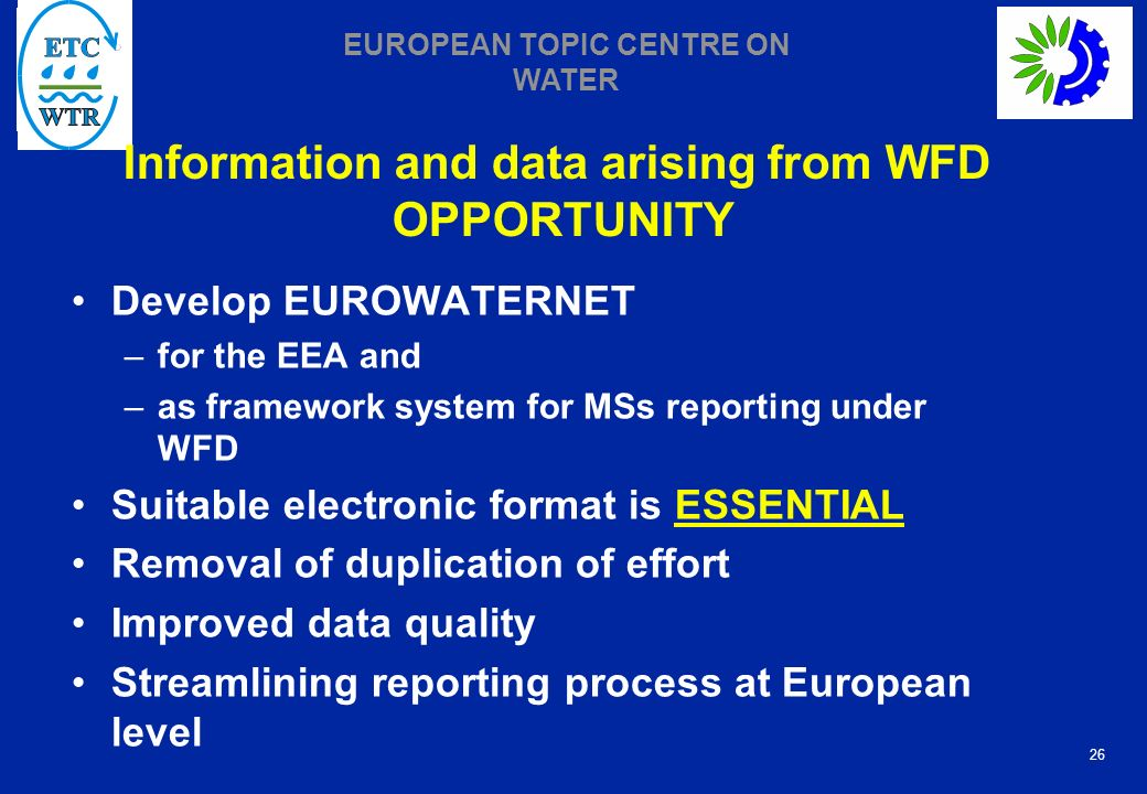 Information and data arising from WFD OPPORTUNITY