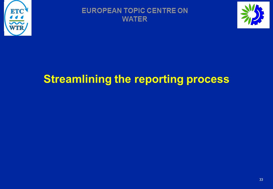 Streamlining the reporting process