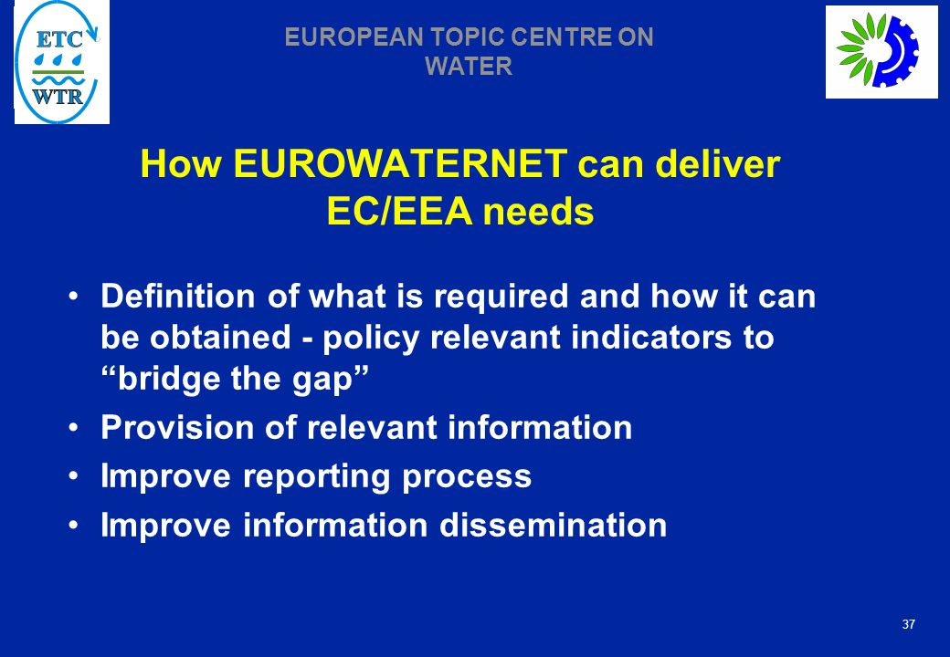 How EUROWATERNET can deliver EC/EEA needs