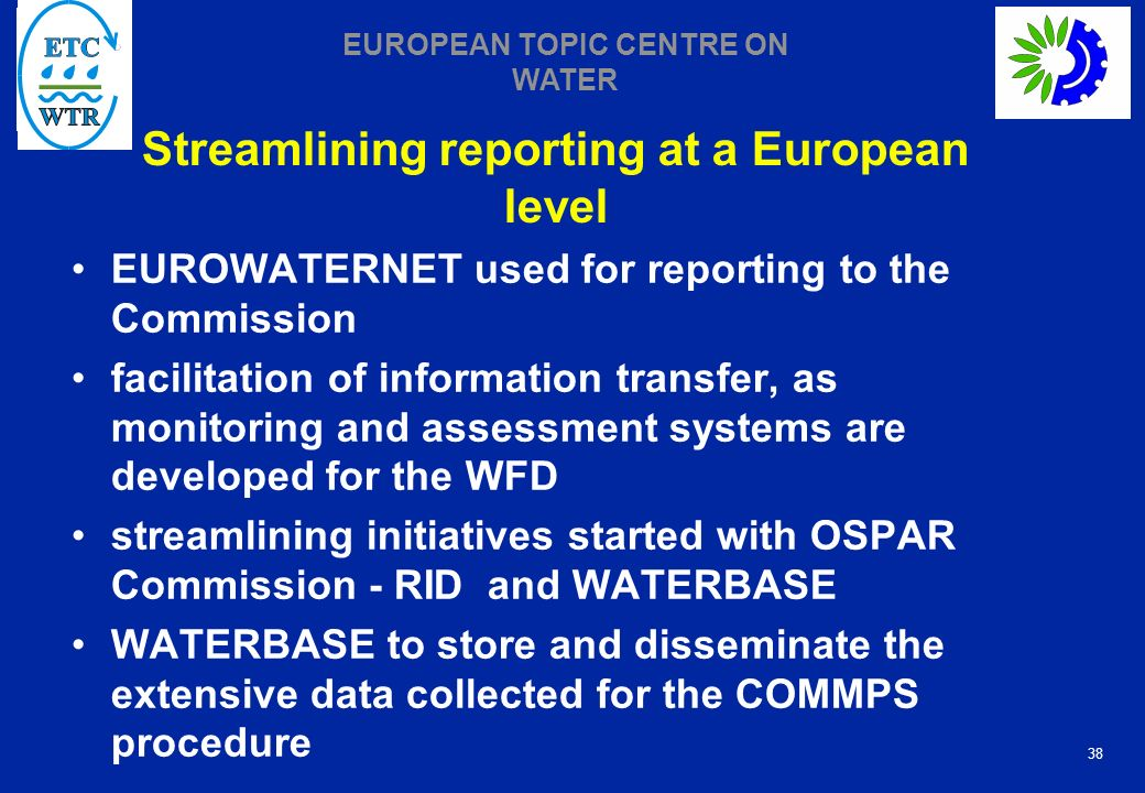 Streamlining reporting at a European level