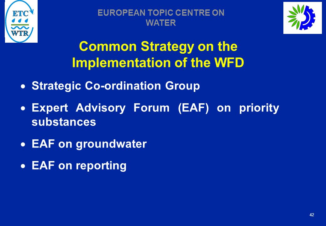 Common Strategy on the Implementation of the WFD