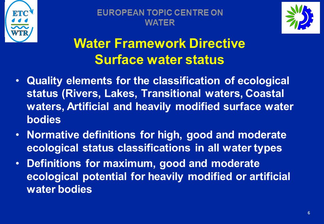 Water Framework Directive Surface water status