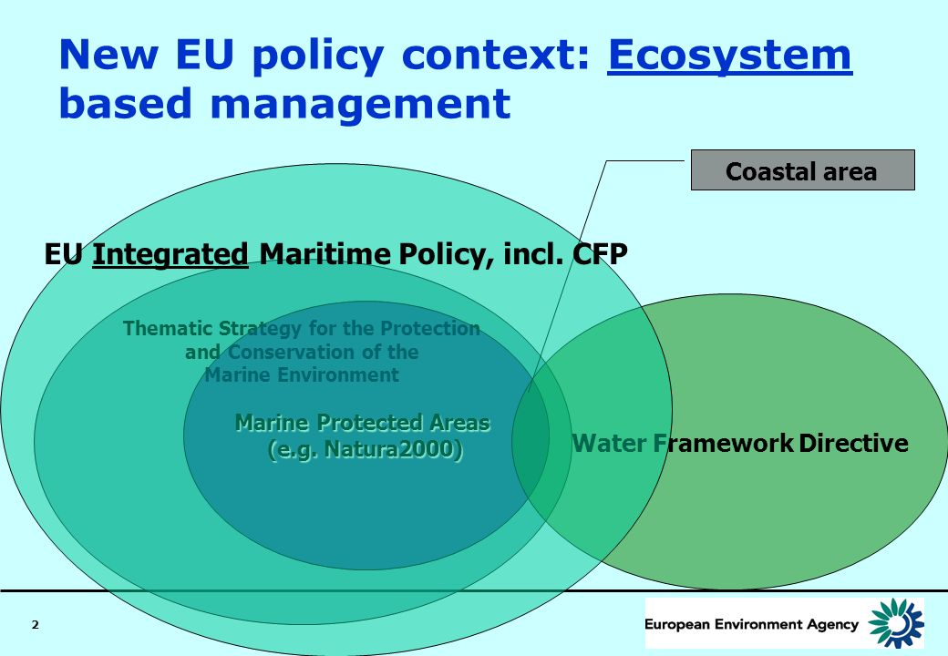 New EU policy context: Ecosystem based management