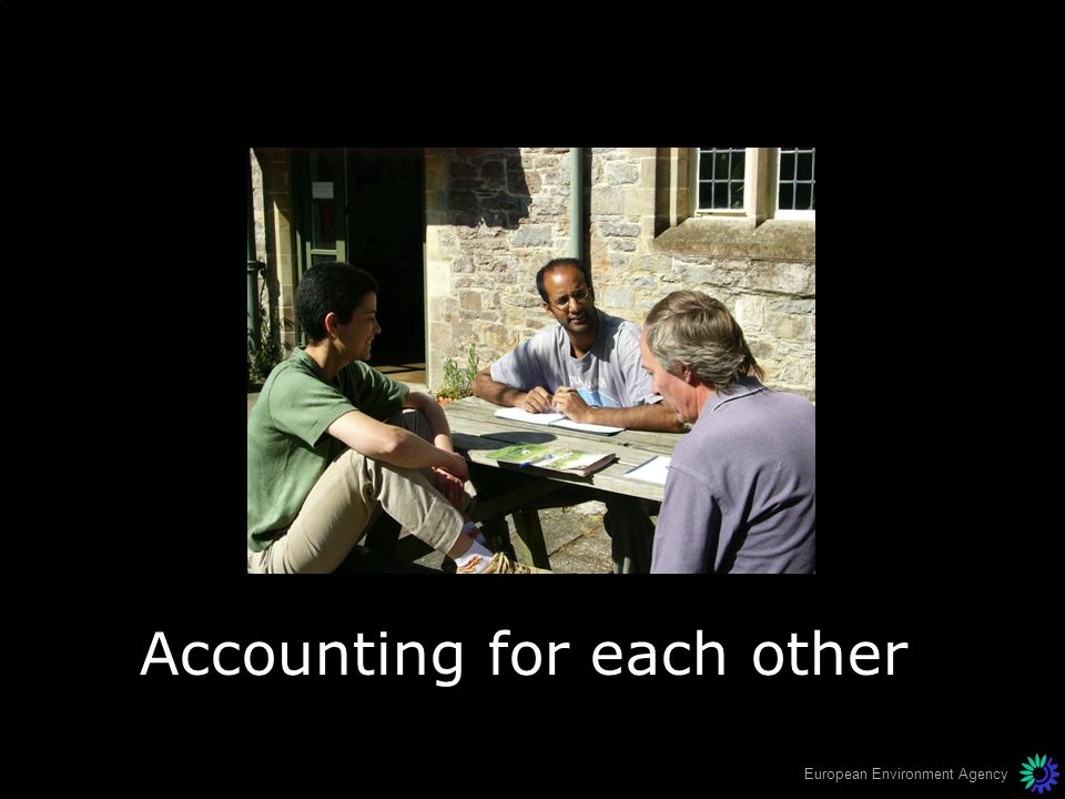 Accounting for each other
