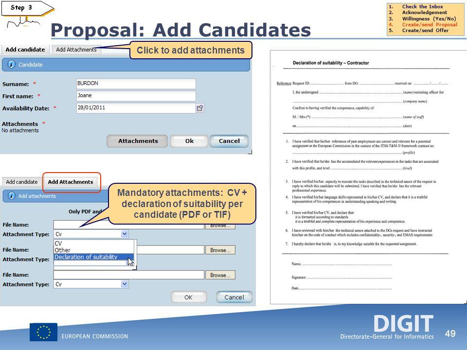 Proposal: Add Candidates