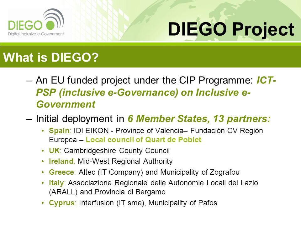 DIEGO Project What is DIEGO
