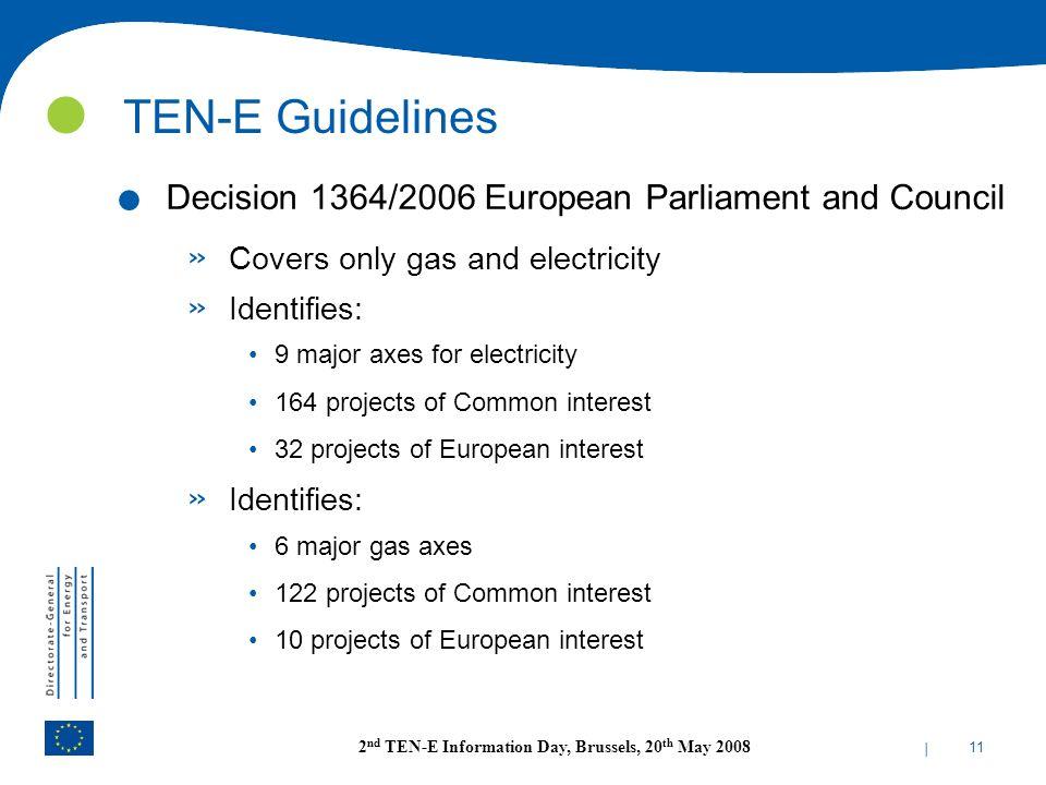 TEN-E Guidelines Decision 1364/2006 European Parliament and Council