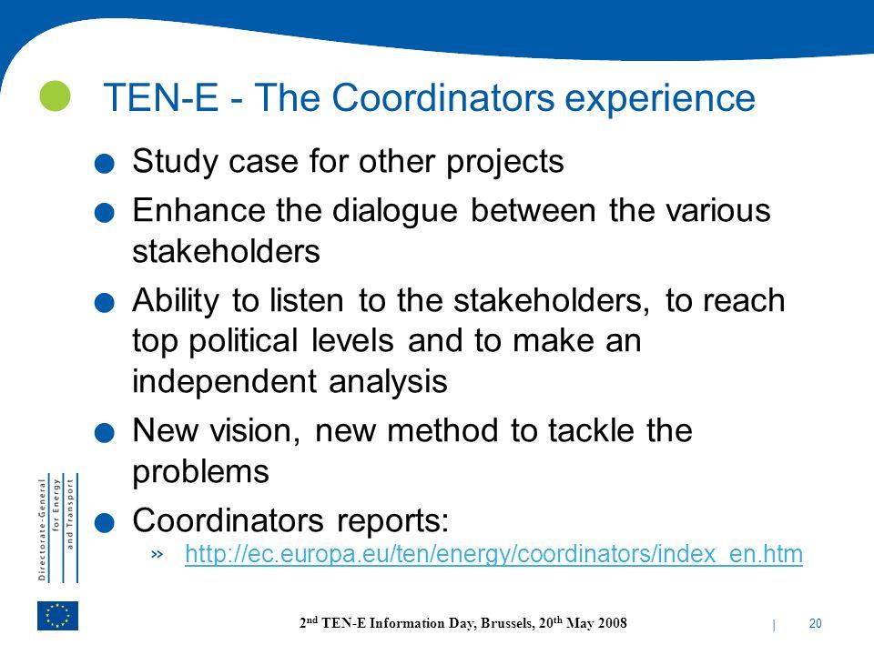 TEN-E - The Coordinators experience