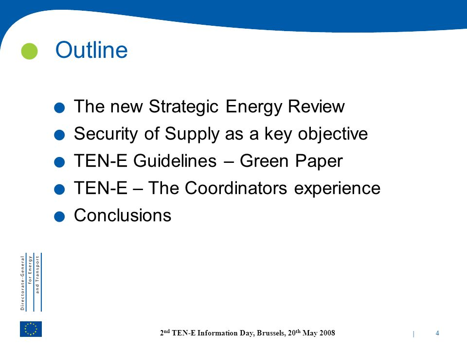 Outline The new Strategic Energy Review