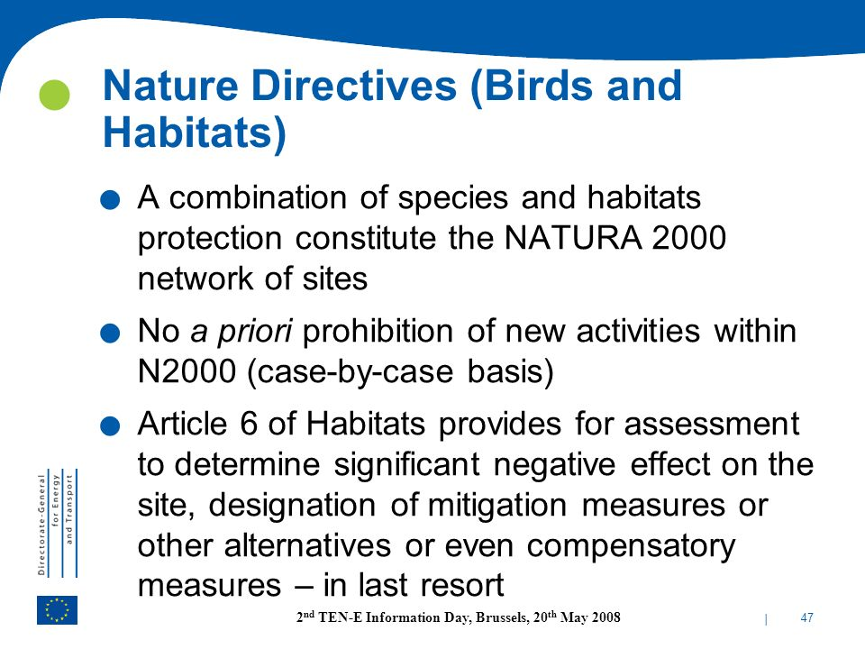 Nature Directives (Birds and Habitats)