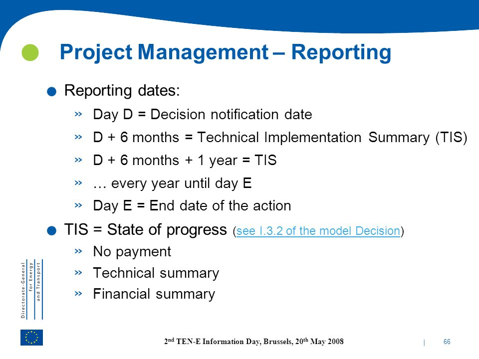 Project Management – Reporting