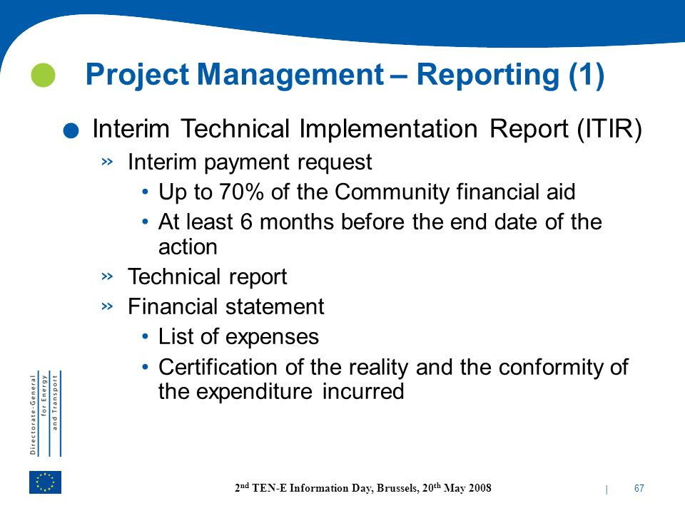 Project Management – Reporting (1)