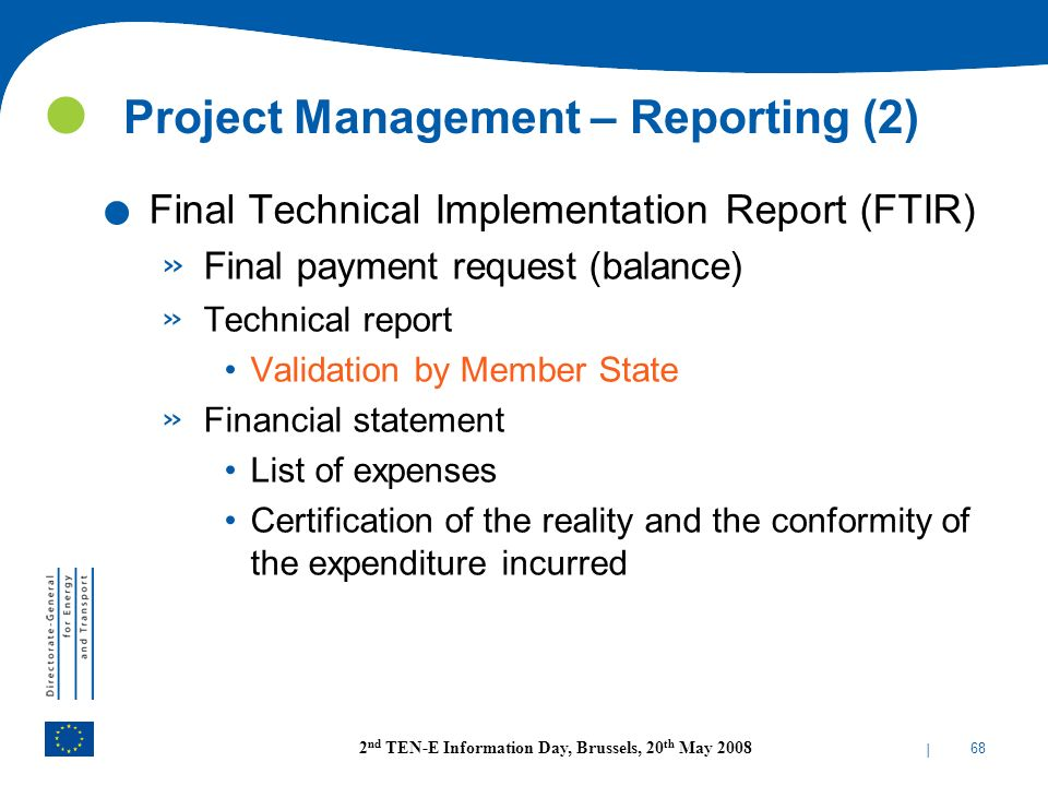 Project Management – Reporting (2)