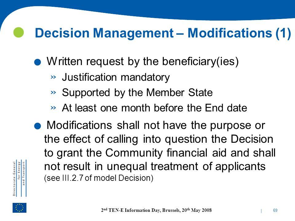 Decision Management – Modifications (1)