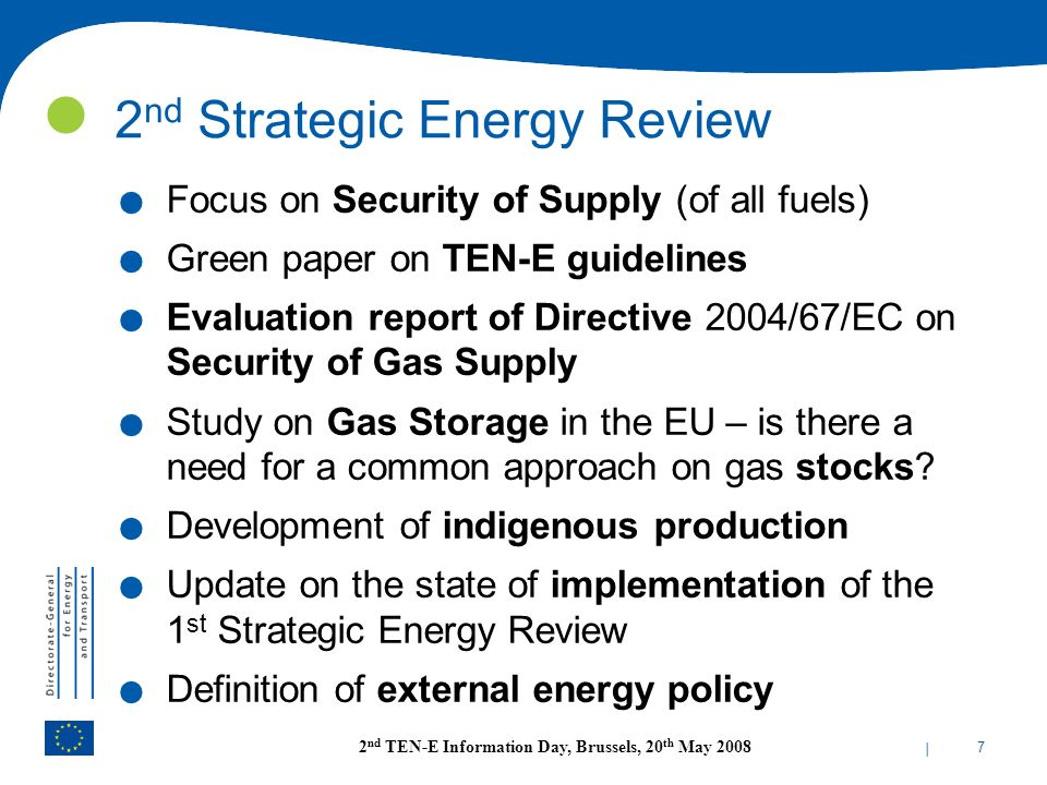 2nd Strategic Energy Review