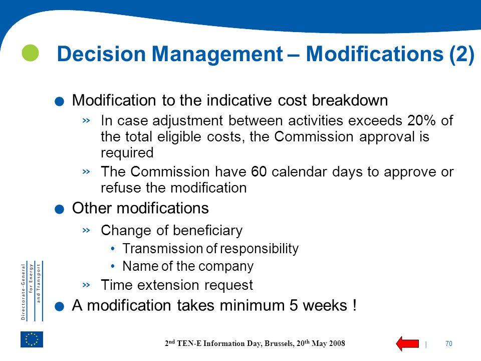 Decision Management – Modifications (2)