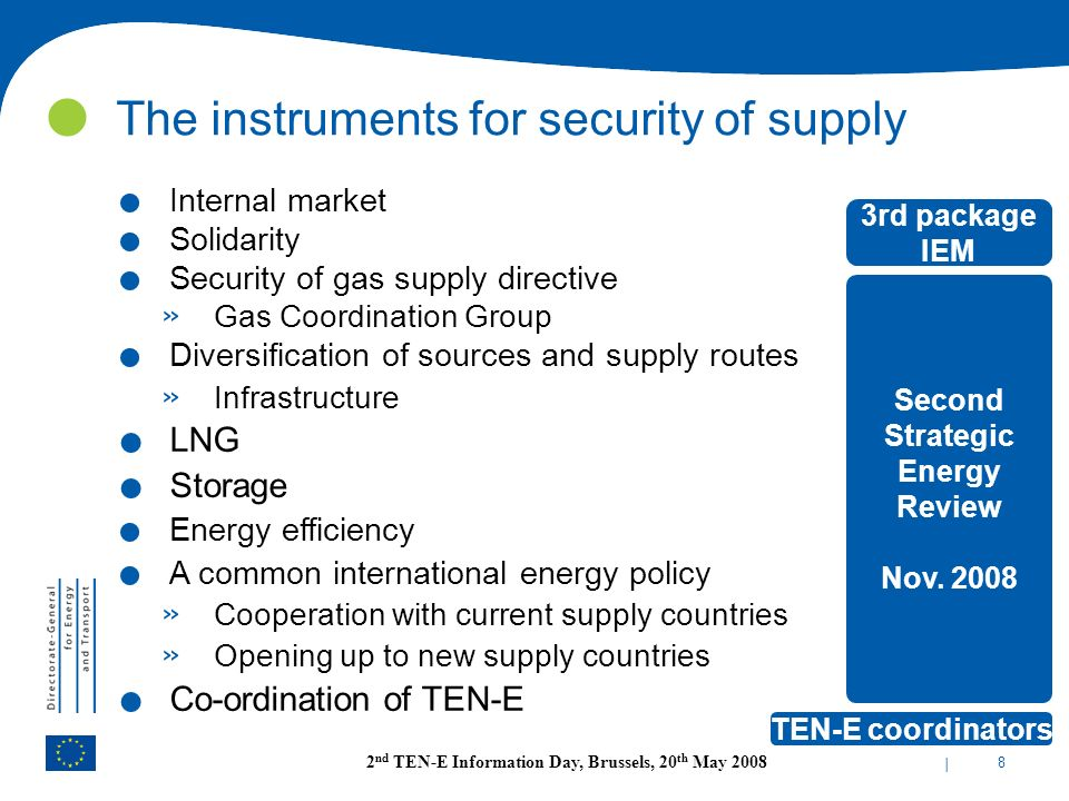 The instruments for security of supply