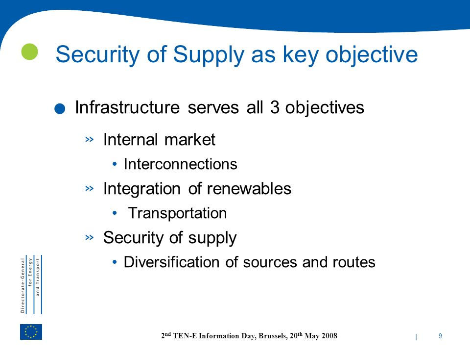 Security of Supply as key objective
