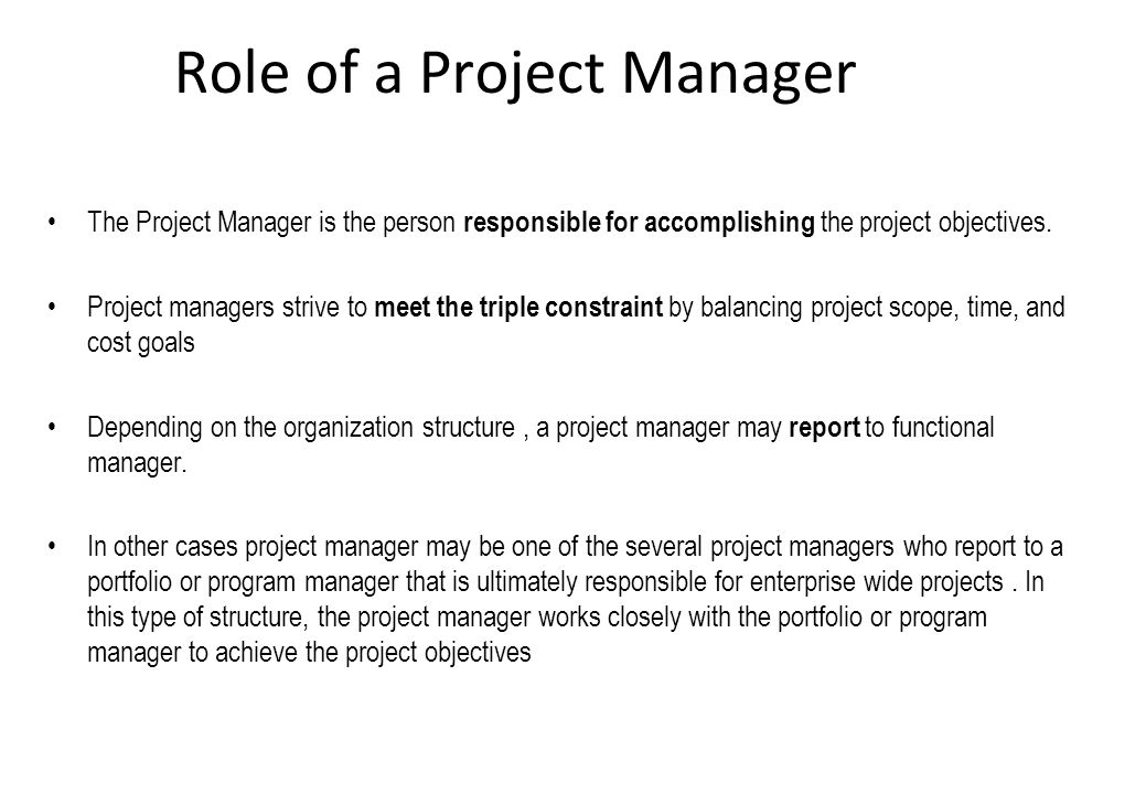 role of a project manager When i meet professionals, i regularly get questions on 'what is the role of a  project manager' and 'how can i become a project manager.