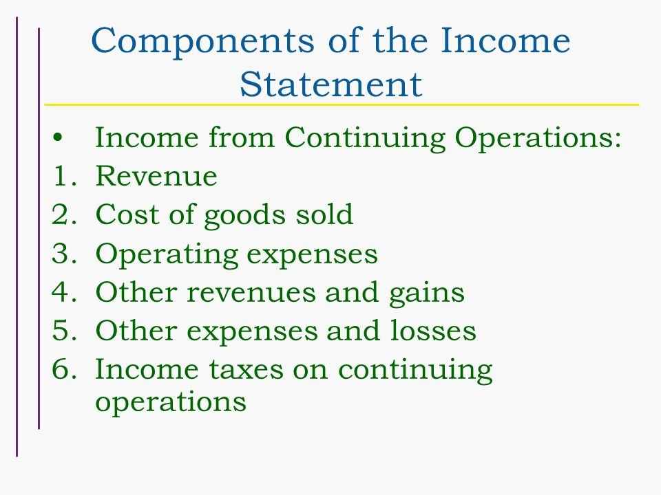 Chapter 4 Schedule 926 Income Measurement and Income Statement