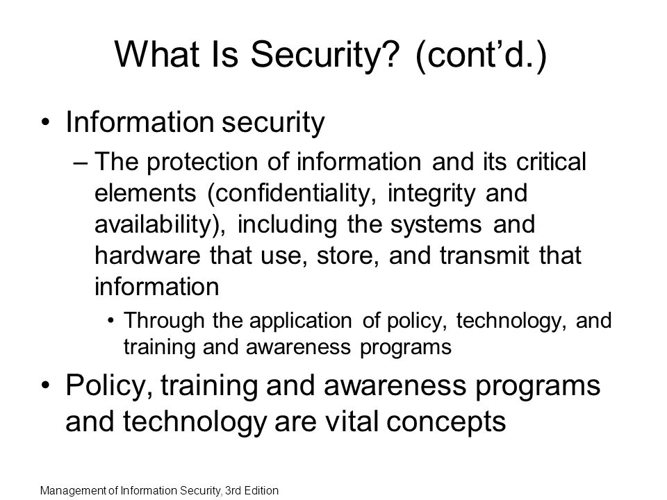 introduction to the information security policy Information security policy is a set of policies issued by an organization to ensure  that all information technology users within the domain of the organization or its.