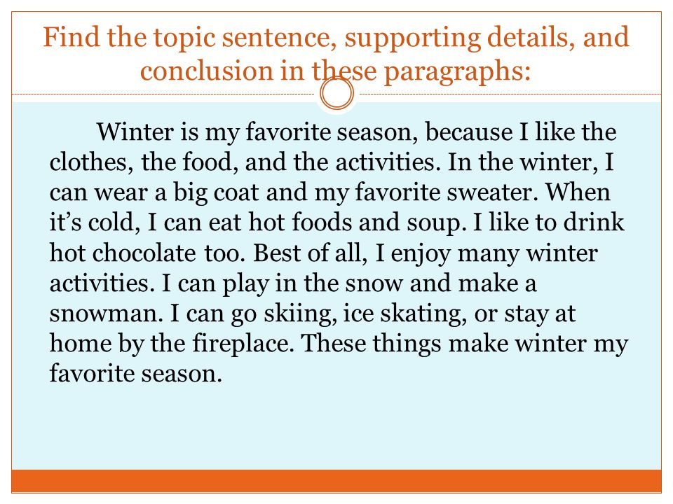 essay on my favorite season winter Read this short essay on winter season  winter is the coldest season of the year in some parts of the northern and southern hemisphere, this season is characterized by falling snow and freezing cold temperatures, usually exacerbated by strong winds the season which usually lasts about three months .