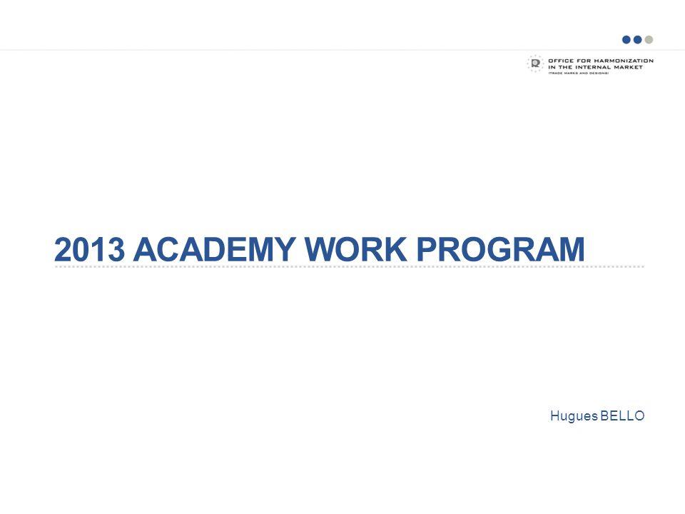 2013 ACADEMY WORK PROGRAM Hugues BELLO