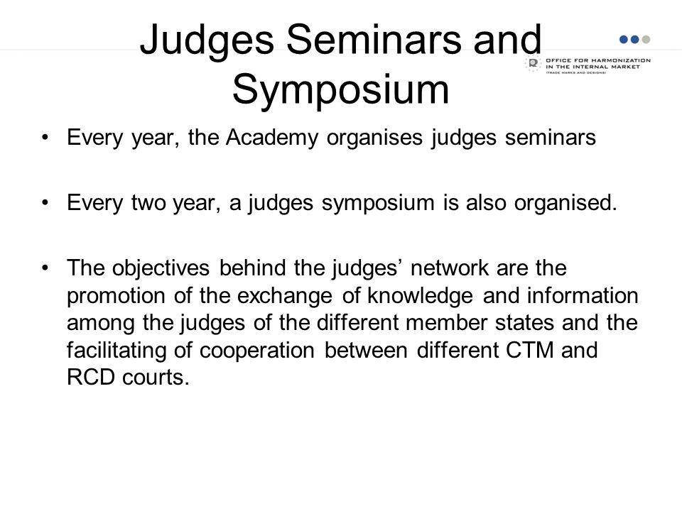 Judges Seminars and Symposium