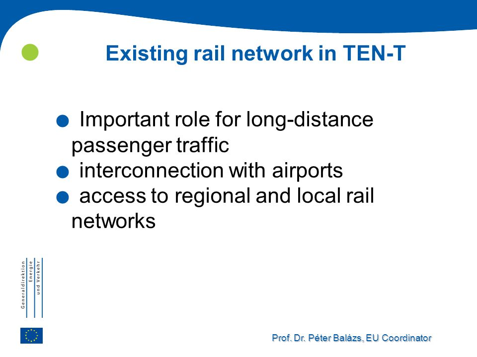 Existing rail network in TEN-T