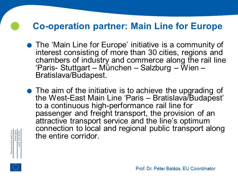 Co-operation partner: Main Line for Europe