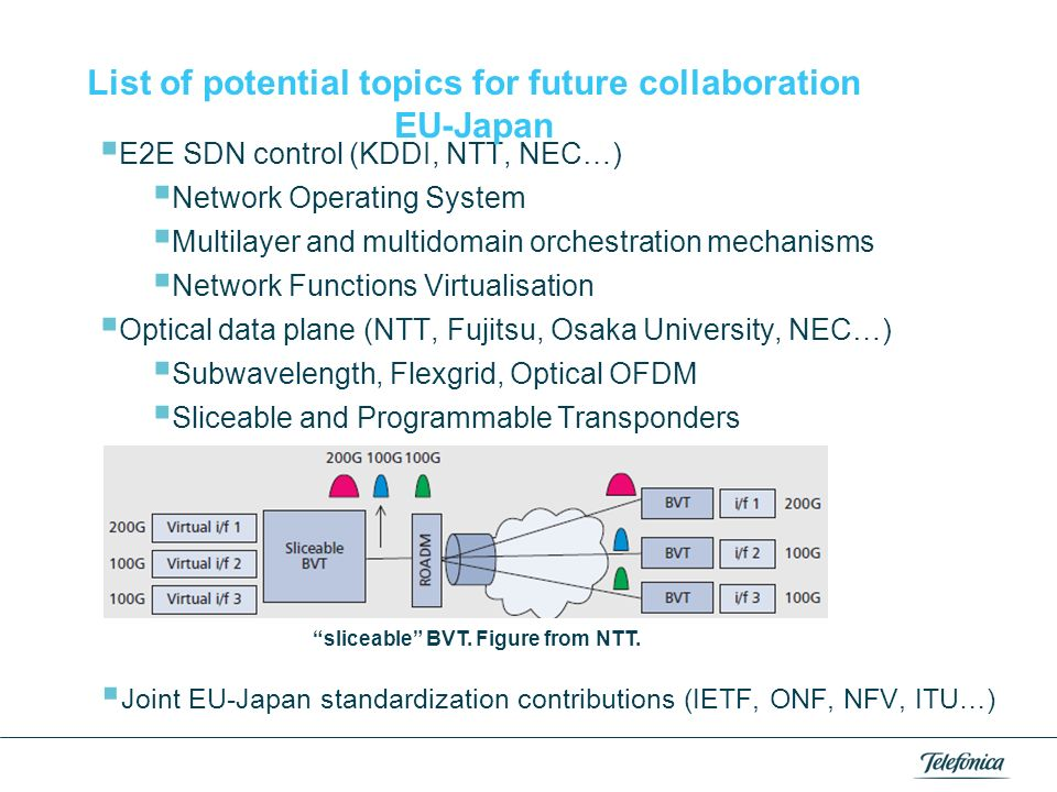 List of potential topics for future collaboration EU-Japan