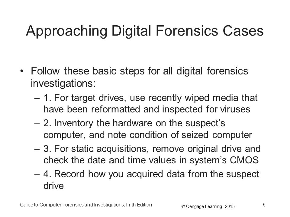 computer forensics case projects chapter 2 Forensics activities projects on forensic science here are three fun projects that kids can do that involve forensic the case of the barefoot burglar.