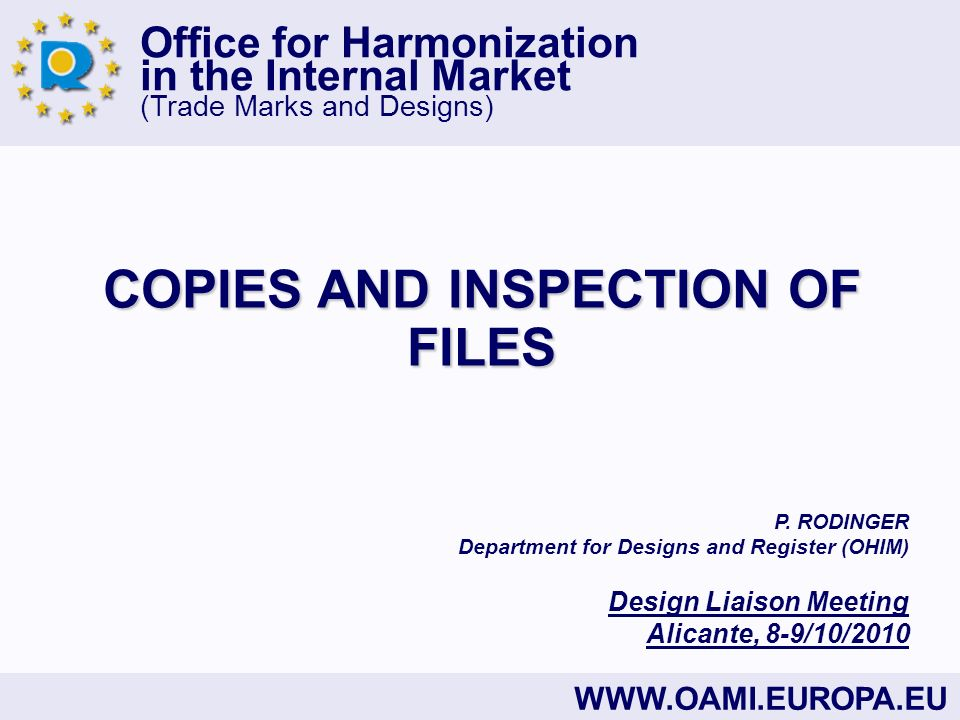COPIES AND INSPECTION OF FILES