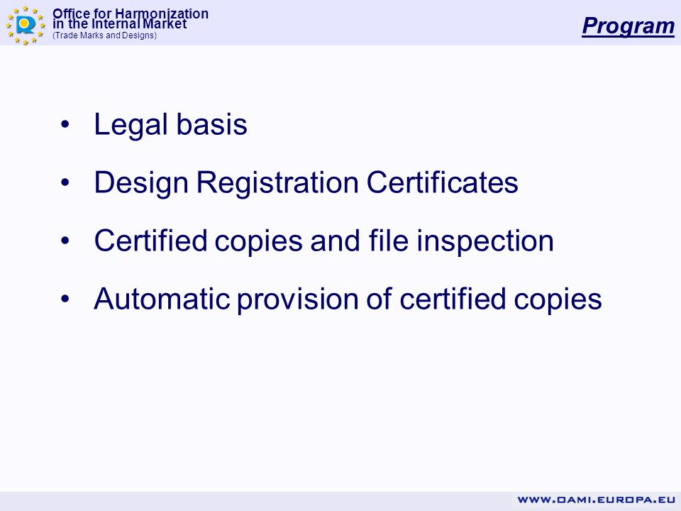 Design Registration Certificates Certified copies and file inspection