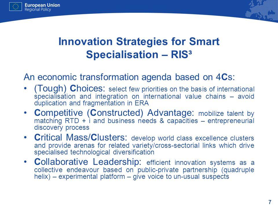 Innovation Strategies for Smart Specialisation – RIS³