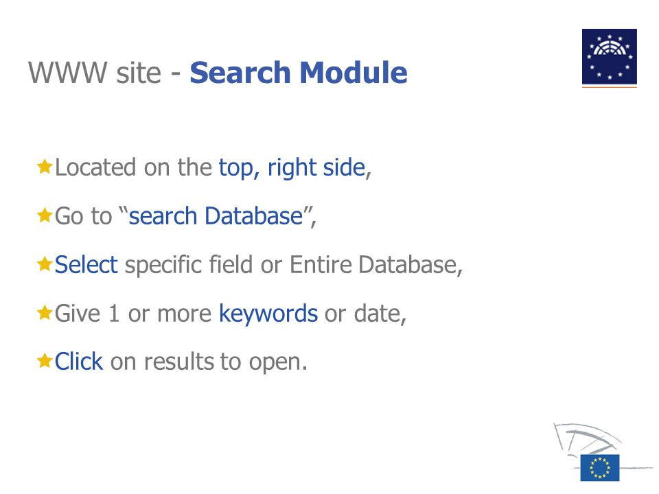 WWW site - Search Module