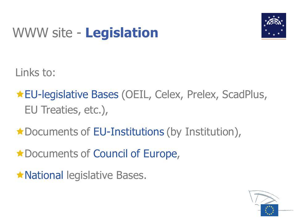 WWW site - Legislation Links to: