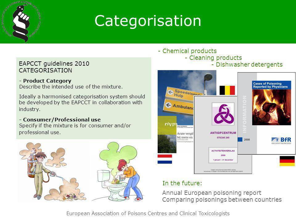 Categorisation - Chemical products - Cleaning products - Dishwasher detergents. EAPCCT guidelines 2010 CATEGORISATION.