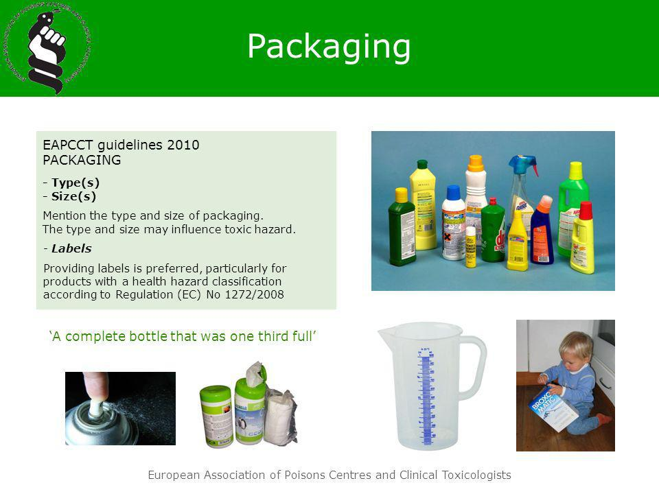Packaging EAPCCT guidelines 2010 PACKAGING - Type(s) - Size(s)