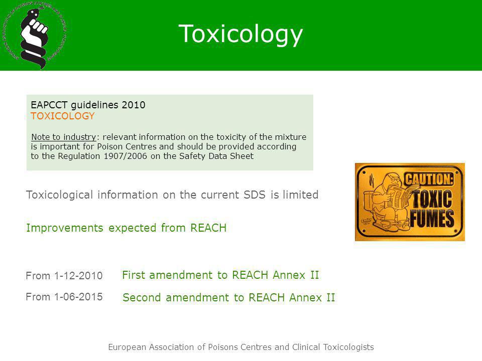 Toxicology Toxicological information on the current SDS is limited