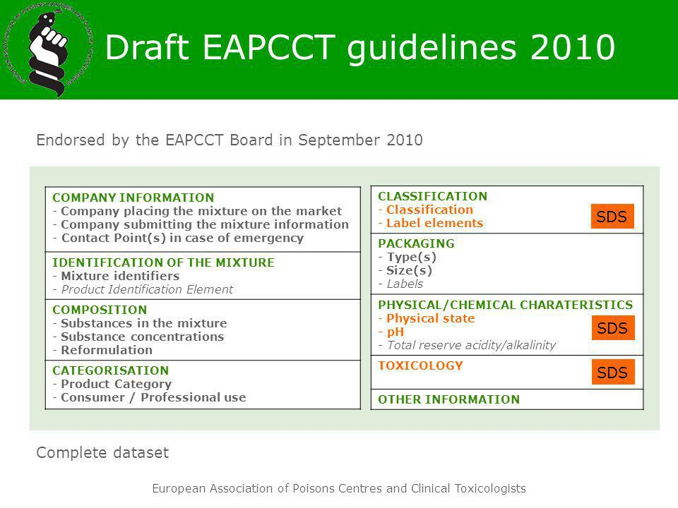 Draft EAPCCT guidelines 2010