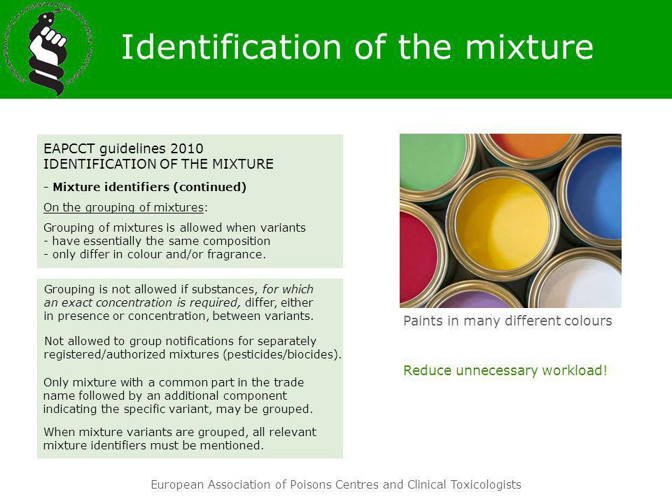 Identification of the mixture